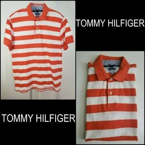 Tommy Hilfiger Men Stripe Polo Shirt Size XL